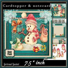 Cardtopper Dont peek snowman 547 on Craftsuprint - View Now!
