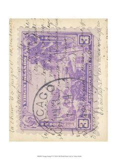 Vintage Stamp IV Art Print