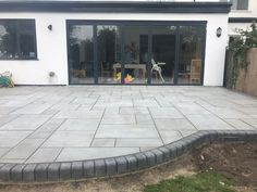 Kandla Grey Sawn Smooth Honed Sandstone Mixed Patio Pack free 48 hour nationwide delivery* Buy Garden Paving Slabs Grey Black all colours Back Garden Design, Modern Garden Design, Garden Landscape Design, Garden Slabs, Garden Paving, Garden Tiles, Garden Paths, Block Paving Patio, Paving Stone Patio