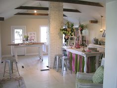 """{drooz studio """"once upon a time"""" studio}    ...from 2004-2009 www.drooz.com ran operations from an1830's farmhouse studio located on an lonely country road. the farmhouse was transformed & completed renovated by Shelly Kennedy over a 2 year period. the powder pink, fairytale space hosted many gatherings & celebrations, inspired a great collection of  artwork and stories, and was always full of laughter and country mice."""