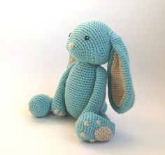 Crochet bunny made from 100% cotton yarn and stuffed with polyester fiberfill. The eyes are also made with yarn so there is no choking hazard for babies and toddlers.   I can make this toy in any color combination. Please take into consideration that colors may vary in real life and on different screens. Measurements: approx. 20 cm high (siting position) and 15 cm wide  Cleaning: recommended hand wash (30°C/86°F). Flat drying prevents deformation of the items. Do not use the dryer!   All...