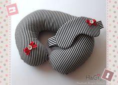 Comfortable Travel Neck Pillow Stripes on Etsy, $24.60