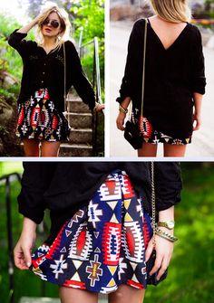 Printed skirt love love love