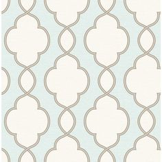 Shop Brewster Wallcovering Turquoise Strippable Non-Woven Paper Unpasted Classic Wallpaper at Lowes.com