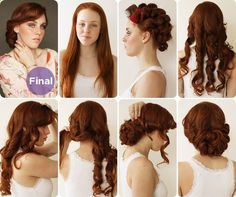Hair  makeup team mimi  taylor show us how to get a sweet 1930s-inspired up-do, ideal for a vintage-inspired wedding.