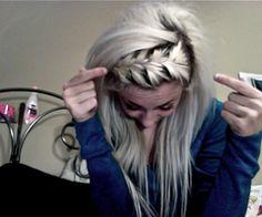 love doing my hair like this<3