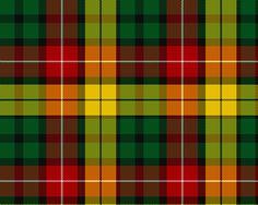 Buchanan Clan Tartan. My mother's line, McCalmont, was a sept (family) of the Buchanan Clan in Scotland.