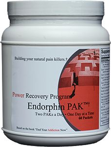 If you have difficulty stopping the use of pain killers, use alcohol or drugs for a time-out from working too hard or have a history of being overly responsible and time-urgent, then theEndorphin PAK may work for you.