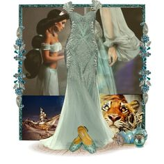 Designer Clothes, Shoes & Bags for Women Princess Inspired Outfits, Disney Themed Outfits, Disney Inspired Fashion, Princess Outfits, Disney Dresses, Disney Fashion, Princess Jasmine Wedding, Aladdin Wedding, Jasmine Costume