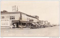 RP: Street Scene , PAYNESVILLE , Minnesota , 20-30s ; Drug store corner