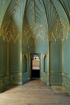 Seriously beautiful! Strawberry Hill House, Twickenham, London, 1749-1776. Fascinating design!