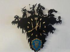 Warcraft alliance wooden wall clock от LordOfInk на Etsy
