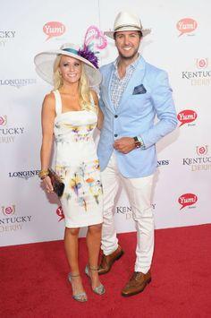 Luke Bryan 2013 Kentucky Derby. His wife is absolutely gorgeous.. Blah ;)