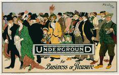 Pour fêter les 150 ans du métro de Londres, le London Transport Museum expose en ce moment 150 affiches qui retracent l'histoire du « Undergroud », en voici quelques unes.