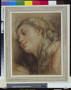 """""""The head of St Mary Magdalene"""" Attributed to Federico Barocci (Urbino c. 1535-Urbino 1612) Creation Date: c.1550-1600 Materials and techniques: Black, red and brown chalks, with white heightening Dimensions: 30.8 x 24.6 cm Royal Collection Trust"""