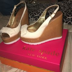 Authentic Kate Spade Demeter wedges sz 7.5 Worn twice. Very comfortable kate spade Shoes Wedges