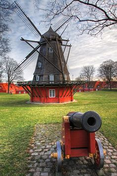 The old windmill at Kastellet in Copenhagen #denmark #travel #placestosee