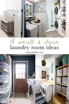 18 clever small laundry room ideas for your home #homeimprovement #laundryroom #laundrycloset Small Laundry Rooms, Laundry Room Organization, Laundry Room Design, Laundry Closet, Laundry Decor, Bathroom Laundry, Laundry Tips, Laundry Storage, Closet Storage