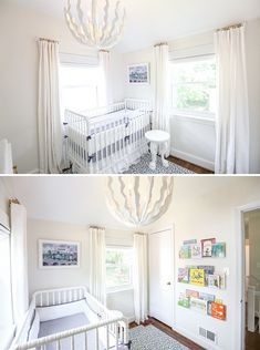Blue White Nursery For A Baby