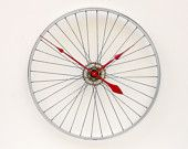 Combines my love of slightly off-beat art with hubby's love of biking plus function having the clock!