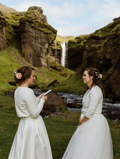 These lovebirds tied the knot in front of a beautiful waterfall in Iceland | Image by Styrmir Kári & Heiðdís Photography Wedding Blog, Our Wedding, Iceland Image, Iceland Waterfalls, Beautiful Waterfalls, New Journey, Elopement Inspiration, Seaside, Knot