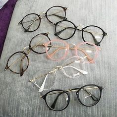Color Frame Fake Glasses Colors: Feedback: Customer satisfaction is very important to us. If you are satisfied. Fake Glasses, Cool Glasses, New Glasses, Glasses Style, Korean Glasses, Glasses For Girls, Cute Sunglasses, Cat Eye Sunglasses, New Fashion