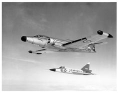 Avro Canuck and Delta Dagger Fighter Aircraft, Fighter Jets, Turbine Engine, Military Jets, Us Air Force, Aeroplanes, Airports, Cold War, Gliders