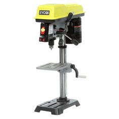 Rybobi 10 In. Table/Benchtop 5-Speed Lighted Drill Press With Laser Alignment #Ryobi