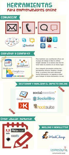 Herramientas para emprendedores online #infografia