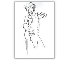 Trixie Sparkel, Burlesque-Tänzerin in eleganter Pose - http://www.1agrusskarten.de/shop/trixee-sparkel-burlesque-tanzerin-in-eleganter-pose/    00019_0_1223, Burlesque, Grußkarte, Klappkarte, Kunst, Tanz, Tanzen, Tänzerin, Variete00019_0_1223, Burlesque, Grußkarte, Klappkarte, Kunst, Tanz, Tanzen, Tänzerin, Variete