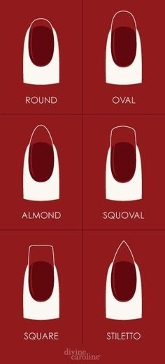 "Nail shapes...I used to style mine ""squoval"" all the time. I didn't know there was a name for it!"