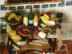 Italian Miniature Side Table for your Dollhouse