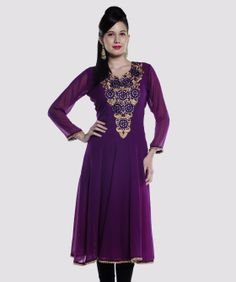 Enhance your charm and elegance with veritaas fashion as it brings to you this colourful collection of kurtis and more. Featuring marvelous designs, prints and colours, this line-up will highlight your high taste in style and fashion.BRAND: LavennderCATEGORY: KurtaCOLOUR: PurpleMATERIAL: Faux GeorgetteSIZE: This product conforms to the standard brand sizing. For your shopping convenience.