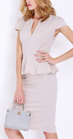 The cap sleeve sheath dress from SheIn fits so well! And looks good too!