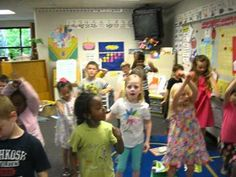 LOVE this!!!  My kids favorite song :)  Kindergarten CAN participate in a flash mob!  Call Me Maybe