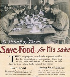 WWI Saving Food Advertisement, Puck Magazine, Visual Studies Collection, Library of Virginia.
