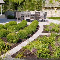 Die Kugel-Heckenpflanzen sehen modern und gepflegt aus und bringen interessante geometrische Formen in den heimischen Garten. - Mehr Ideen auf www.roomido.com