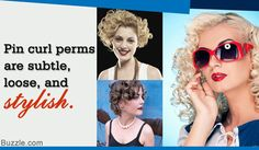 Pin curl perms