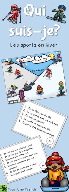 Qui suis-je? A french reading comprehension game that can be played 2 different ways. Great for grades 1 to 4.