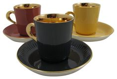 Demitasse Cups & Saucers