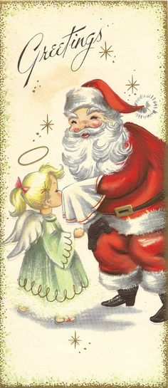 Vintage Christmas cards from a sample book. Vintage Christmas Images, Retro Christmas, Vintage Holiday, Christmas Pictures, Christmas Art, Christmas Glitter, Christmas Scenes, Father Christmas, Old Time Christmas