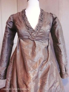 Taffeta dress, ca.1800-1810