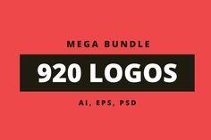 920 Logos Mega Bundle by DesignDistrict on @creativemarket?u=DesignGatof