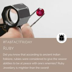 We love the idea that a Ruby has the power to be a peace-maker! Ruby Jewelry, Jewellery, Peace Maker, Did You Know, Knowing You, Fun Facts, Jewels, Gemstones, Inspiration