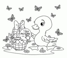 Bunny and Many Easter Eggs coloring page for kids holiday coloring