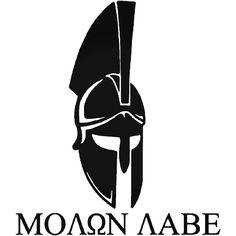 Molon Labe Greek Span Vinyl Decal Sticker BallzBeatz . com