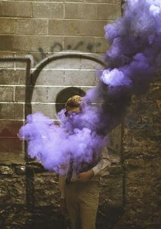 purple smoke powder