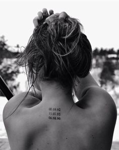 Subtle tattoo idea #date #small #neck #ink