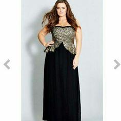 ad6108e688e City Chic Sequin Peplum Maxi Dress New Sequin Prom Dresses