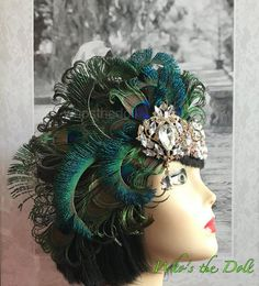 Gatsby Headpiece, Chain Headband, Feather Headpiece, Flapper Headband, Lace Headbands, Peacock Pictures, Peacock Costume, Wedding Purse, Rhinestone Appliques